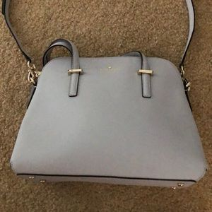 Kate Spade Satchel Bag in Light Gray with Dust Bag